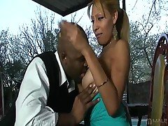 Hung ebony brother Xplicit lives to settle his superb shaft balls-deep into some spicy Latina pussy -- so when he meets the magnificent Maria, he pulls out his slab of sin to let her have a taste! Wha from Tranny Seducers