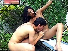 Shemale Enjoy Outdoor Cock Sucking from Shemale Thrills