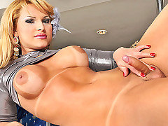 Watch as Nasty t-girl Carla Renata slowly strips on a bar her legs wrapping around a pole, her phat ass rubbing that pole, pretending it is a hard cock ready to slip into that hot ass and ride it hard from TS Dolls