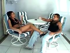 Sexy tranny seduces guy at pool from greatestshemales.com