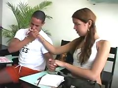 Shemale seduces her fellow student from theshemaleporn.com