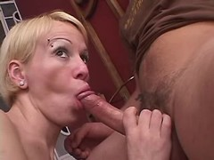Playful tranny sucks cockloving guy