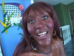 Playful ebony tranny fucking w dude from thebestshemales.com
