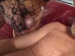 Dude gets cumshot from asian tranny from thebestshemales.com