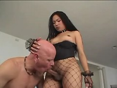 Asian shemale gets blowjob from guy from thebestshemales.com