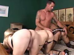 Stupid guy serves numerous shemales from freetrannyxxx.com